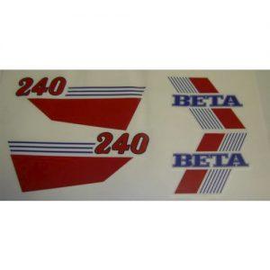 kit adesivi pvc per serbatoio e fianchetti , Beta 240