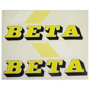 Beta, adesivo pvc per serbatoio, coppia