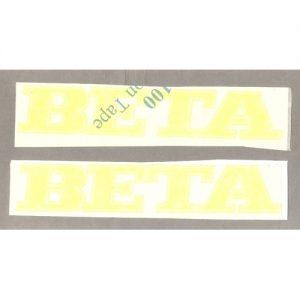 Beta, coppia adesivi in pvc per serbatoio