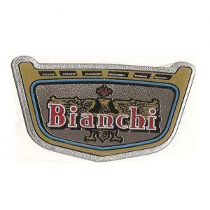 Bianchi, fregio resinato desivo per serbatoio Bianchi Bernina
