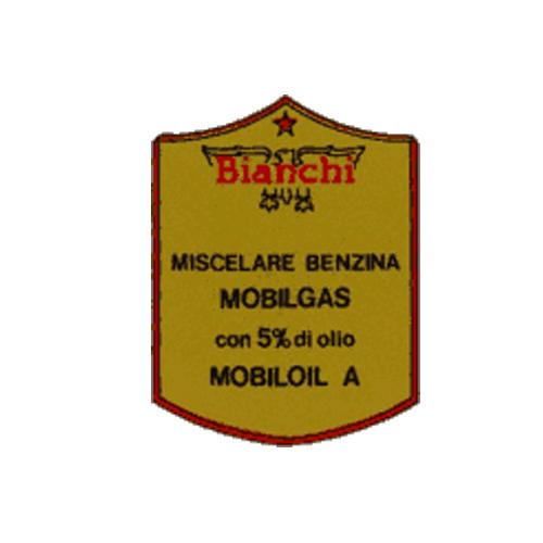 Bianchi, adesivo in pvc per serbatoio moto