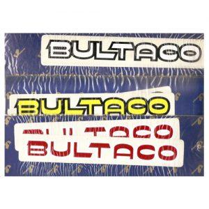 Coppia adesivi pvc Bultaco per serbatoio