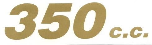 Cilindrata cc 350 decalcomania trasferibile a secco