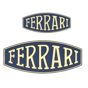 coppia di adesivi in pvc piccolo per serbatoio o grande per fianchetti moto FERRARI