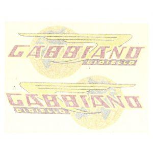 coppia di adesivi in pvc per serbatoio moto FBM Gabbiano , scritte