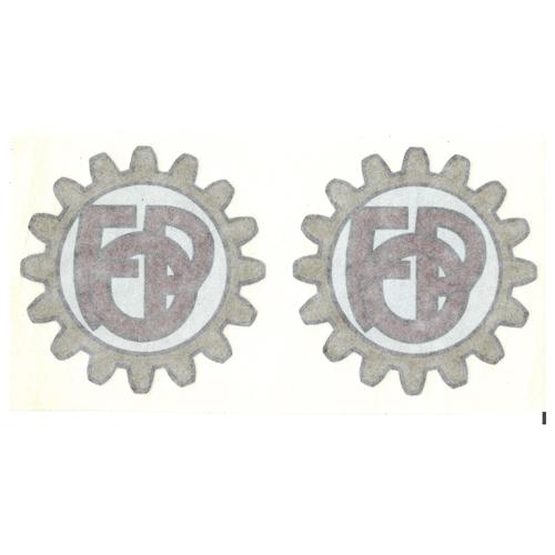 coppia di adesivi pvc per serbatoio moto Giulietta Peripoli