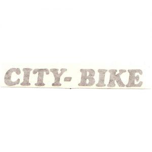 adesivo iin pvc , scritta City-Bike , ideale per serbatoio e carter catena