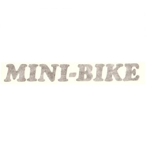 scritta MINI-BIKE- adesivo pvc per Benelli
