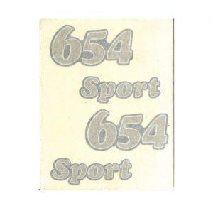 Coppia adesivi in pvc, scritte 654 Sport per Benelli