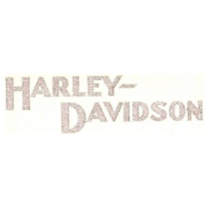 coppia di adesivi iin pvc - scritta Harley-Davidson