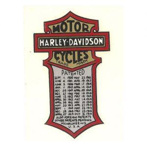 Decalcomania trasferibile a secco per serbatoio - Harley - Davidson