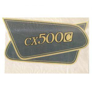 coppia di adesivi in pvc, scritta cx500c per HONDA