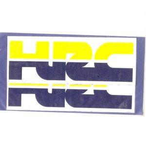 adesivi in pvc, coppia scritta HRC per HONDA