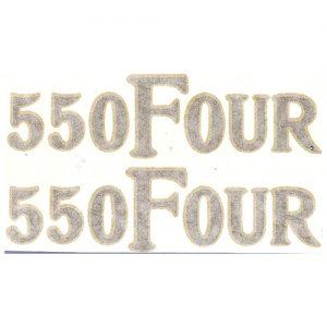 coppia scritte pvc per fianchetti , 550 FOUR per HONDA