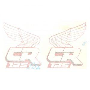coppia scritte in adesivo pvc, CR125 per HONDA