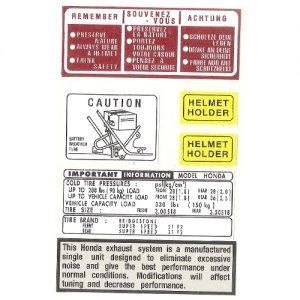 adesivo in pvc, istruzioni per HONDA