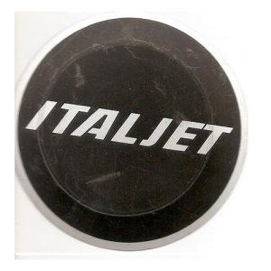 targhetta in metallo, originale, per motore Italjet