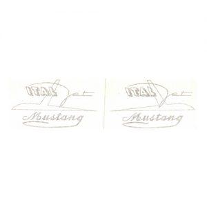 adesivi in pvc, coppia per serbatoio Italjet Mustang