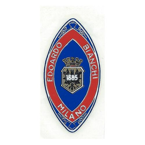 adesivo in pvc, scudetto per canotto bici, azzurro e rosso