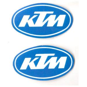 coppia di adesivi per KTM con bordo bianco