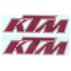 Adesivo in pvc KTM rosso