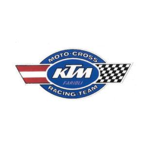 adesivo in pvc per KTM , scritta MOTO CROSS RACING TEAM