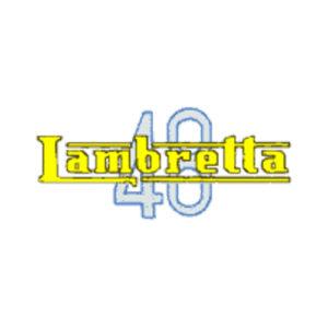Scritta Lambretta 48 - decalcomania trasferibile a secco