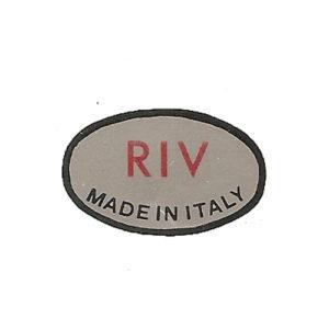 adesivo in pvc, scritta RIV per Lambretta