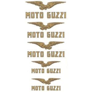 serie completa di decalcomanie trasferibili a secco per MOTO GUZZI sport 14-sport 15 e similari - anni '20/'30