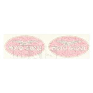 coppia adesivi in pvc e cromo per MOTO GUZZI