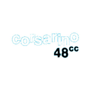Decalcomania trasferibile, scritta Corsarino 48 cc per fianchetti Moto Morini