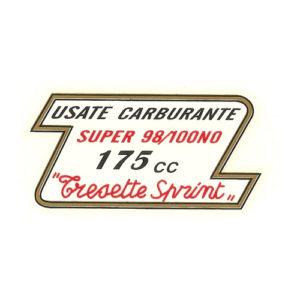 decalcomania trasferibile a secco per serbatoio Moto Morini Tresette Sprint 175 cc