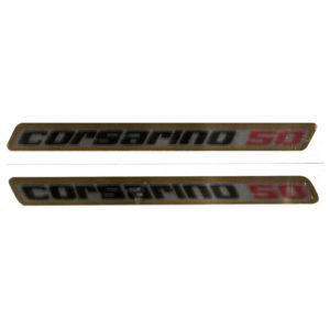 coppia di adesivi i pvc cromo per serbatoio Moto Morini Corsarino 50