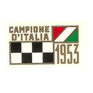 decalcomania trasferibile a secco MOTO MORINI Campione d'Italia anno 1953 per serbatoio