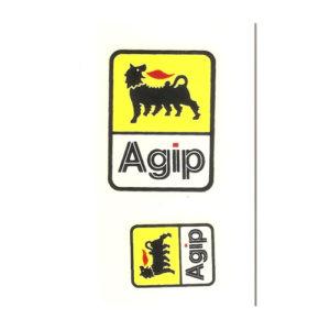 decalcomania trasferibile a secco AGIP