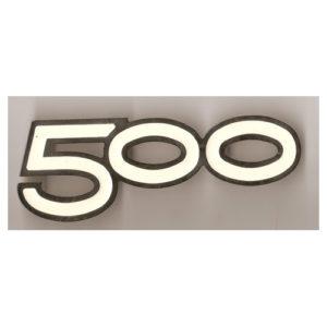 coppia fregi in metallo cromo e smalto bianco per MOTO MORINI 500 anni '80