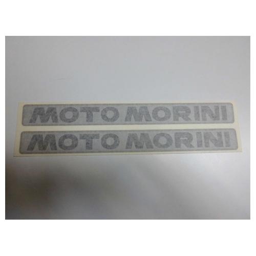 coppia adesivi in pvc e cromo per serbatoio MOTO MORINI