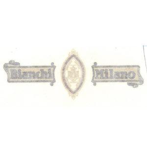 adesivo in pvc per carter catena bici BIANCHI anni '20/'30