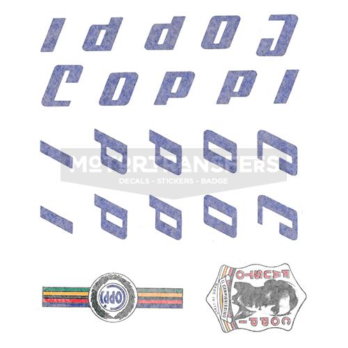 kit decalcomanie trasferibili ad acqua per bicicletta COPPI