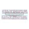 coppia di adesivi in pvc per canna trasversale bicicletta OLYMPIA