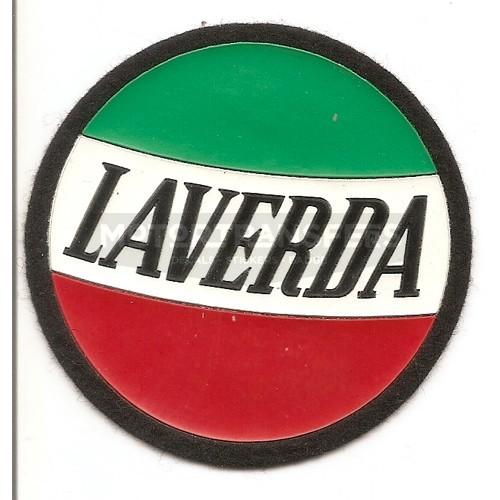 Patch ( toppa) in stoffa e gomma ideale da attaccare con colla o cuciture su tessuti, etc. - logo LAVERDA su tricolore