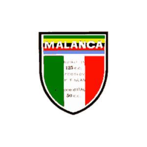 decalcomania trasferibile a secco per serbatoio e fianchetti moto MALANCA - Campionati