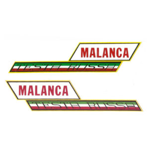 coppia adesivi in pvc per moto MALANCA Testa rossa