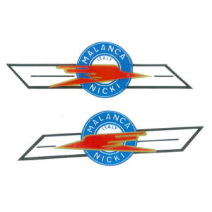 coppia adesivi pvc per serbatoio moto MALANCA Nicki