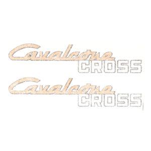 coppia adesivi in pvc per fianchetti motociclo MALAGUTI Cavalcone Cross