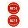 coppia adesivi in pvc per ammortizzatori AG2-3 MARZOCCHI