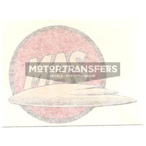 coppia adesivi in pvc per serbatoio moto MAS