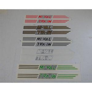 coppia di adesivi in pvc per serbatoio moto MI-VAL - colori assortiti