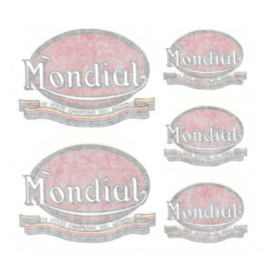 kit adesivi in pvc per moto MONDIAL senza scritta F.B