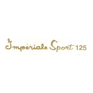 coppia adesivi in pvc per serbatoio MOTOBI scritta in corsivo: Imperiale Sport 125